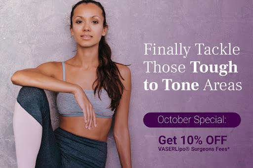 10% off vaser lipo surgeons fees in october 2021